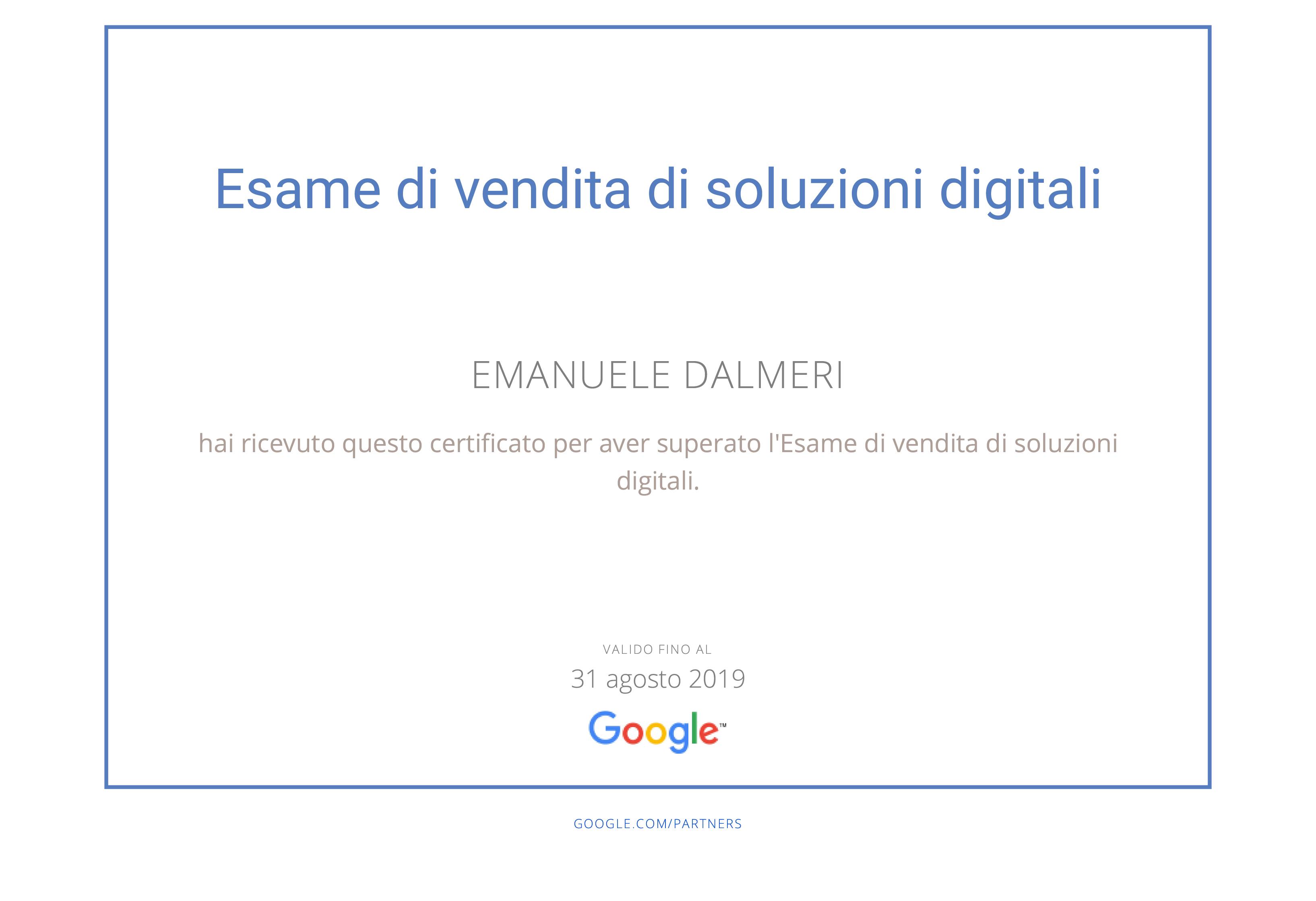 Google Partners - Certification Soluzioni Digitali