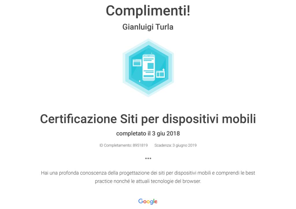 Certificazione siti per dispositivi mobili
