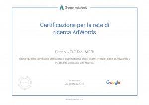 Certificazione Rete di Ricerca AdWords