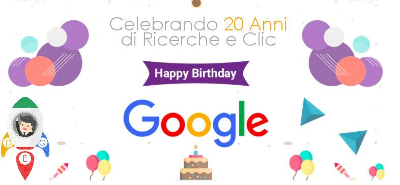 Ventesimo anniversario di Google